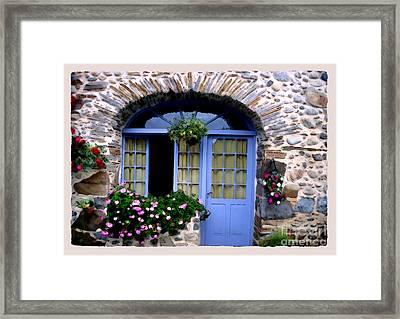 Cottage In Village St Jean Les Buzy Framed Print by Linda  Parker