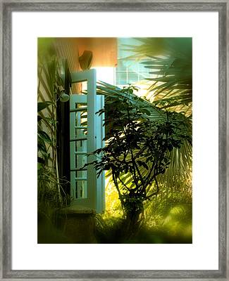 Cottage Memories Framed Print by Claudette Bujold-Poirier