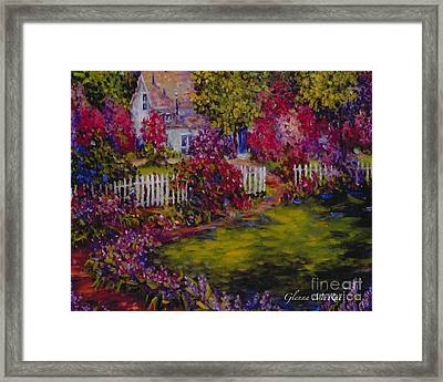 Cottage Of My Heart's Delight Framed Print