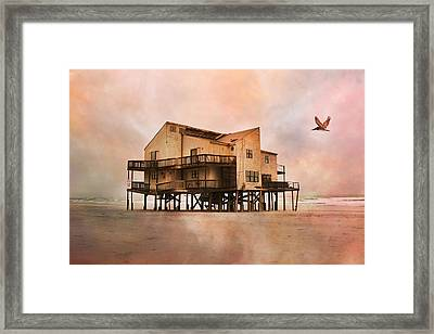 Cottage Of The Past Framed Print by Betsy C Knapp