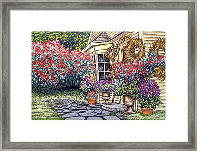 Cottage Of The White Witch Framed Print by David Linton