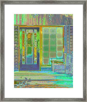 Cottage Porch Framed Print