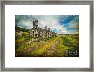 Cottage Ruins Framed Print by Adrian Evans