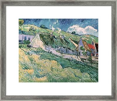 Cottages At Auvers Sur Oise Framed Print by Vincent Van Gogh