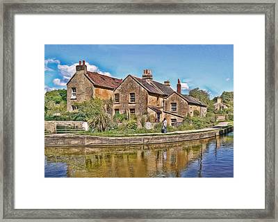 Cottages At Avoncliff Framed Print
