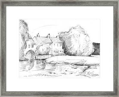 Cottages By The Mill Framed Print