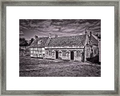 Framed Print featuring the photograph Cottages Devizes -1 by Paul Gulliver