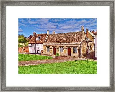 Framed Print featuring the photograph Cottages Devizes -2 by Paul Gulliver