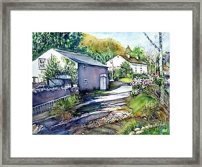 Cottages In Summer Framed Print