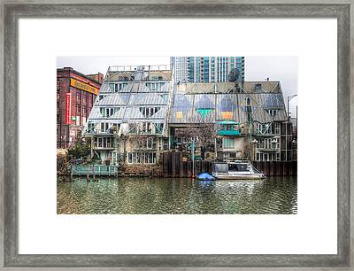 Cottages On The River Framed Print