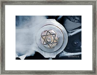 Cotter Pin For Driver Wheels On A Steam Locomotive Framed Print by Wernher Krutein
