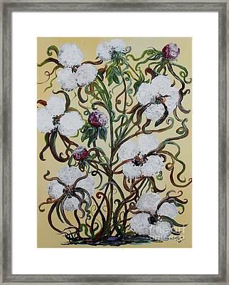 Cotton #1 - King Cotton Framed Print by Eloise Schneider
