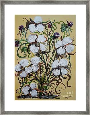 Cotton #2 - Cotton Bolls Framed Print