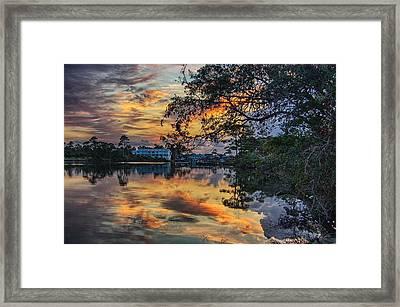 Framed Print featuring the digital art Cotton Bayou Sunrise by Michael Thomas