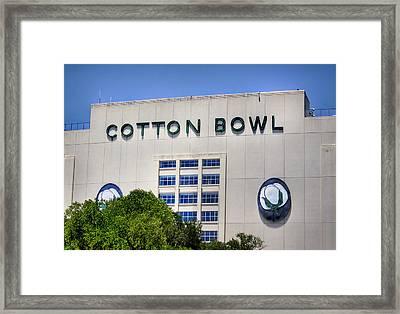 Cotton Bowl Framed Print by David and Carol Kelly