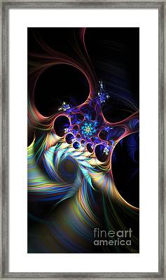 Framed Print featuring the digital art Cotton Candy 2 by Arlene Sundby