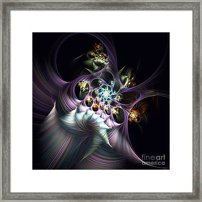 Framed Print featuring the digital art Cotton Candy by Arlene Sundby