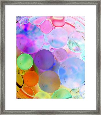 Cotton Candy Bubbles Framed Print by Christine Ricker Brandt