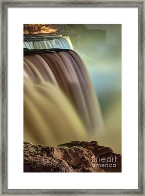 Cotton Candy Falls Framed Print by Darleen Stry