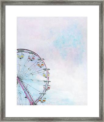 Cotton Candy Ferris Wheel Framed Print by Kay Pickens