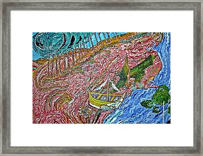 Cotton Candy Hill Framed Print