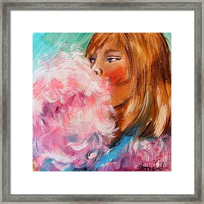 Framed Print featuring the painting Cotton Candy by Karen  Ferrand Carroll