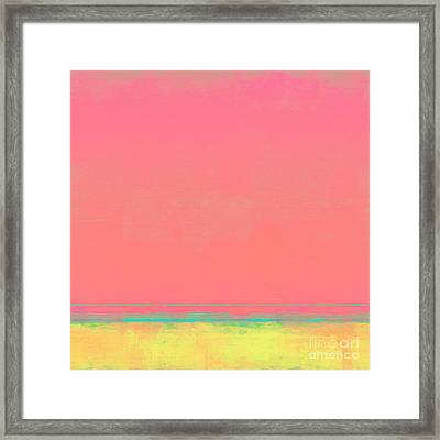 Cotton Candy Beach Framed Print by Lonnie Christopher