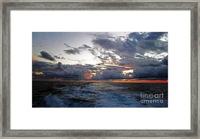 Cotton Candy Sky 2 Framed Print by Alison Tomich