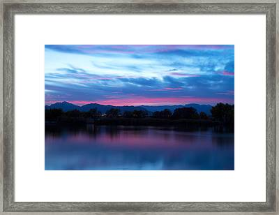 Cotton Candy Sky  Framed Print