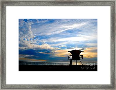 Framed Print featuring the photograph Cotton Candy Sky by Margie Amberge