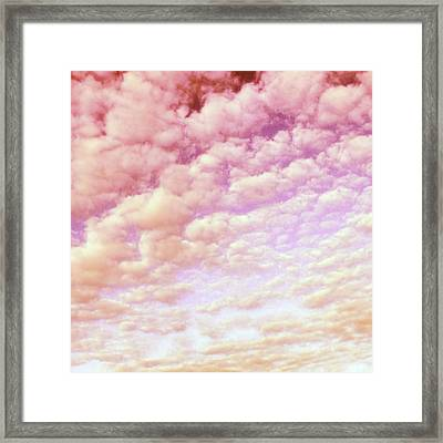 Cotton Candy Sky Framed Print