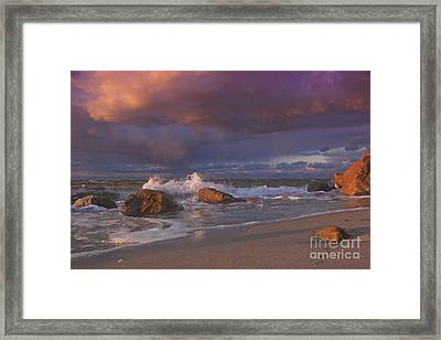 Cotton Candy Sunset Framed Print by Amazing Jules