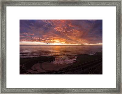 Cotton Candy Sunset Framed Print by David Levy