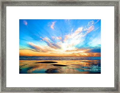 Cotton Candy Sunset Framed Print by Margie Amberge