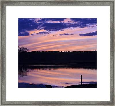Cotton Candy Sunset Series 4 Framed Print