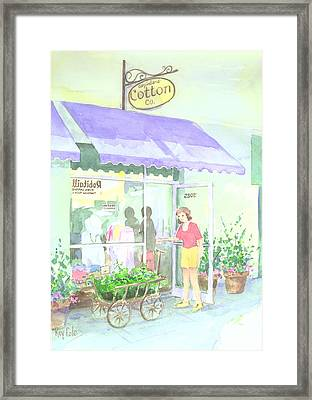 Cotton Co Framed Print by Ray Cole