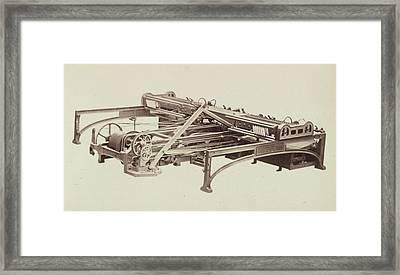 Cotton Machinery Framed Print