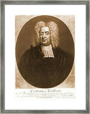 Cotton Mather 1728 Framed Print by Padre Art