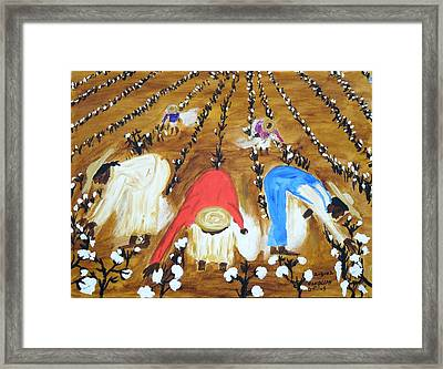 Cotton Picking People Framed Print