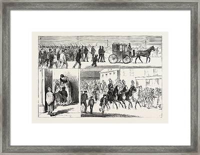 Cotton Riots In Lancashire, Uk, 1. A Detachment Of The 15th Framed Print by English School