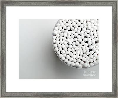 Cotton Sticks Framed Print by Sinisa Botas