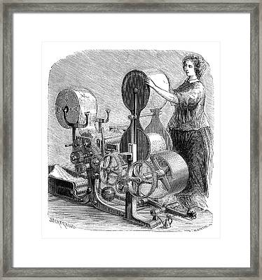Cotton Textile Industry Framed Print