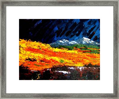 Framed Print featuring the painting Cotton Woods by William Renzulli