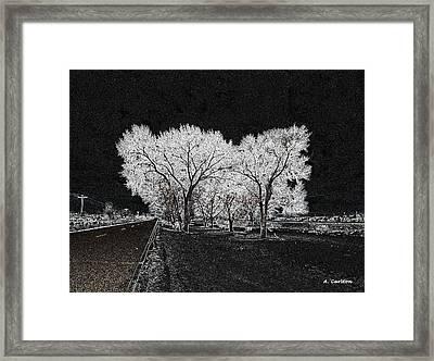 Cottonwood Frost Framed Print by Aliceann Carlton