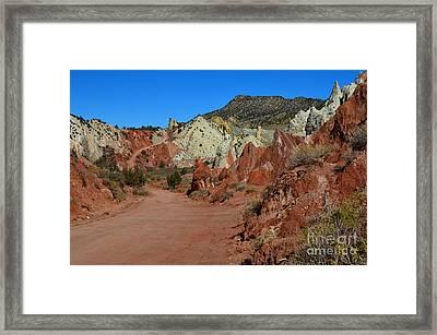 Cottonwood Wash Road Framed Print