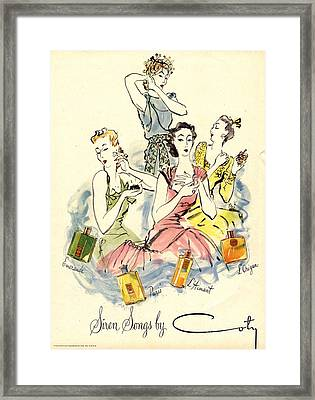 Coty 1940s Uk Womens Framed Print by The Advertising Archives