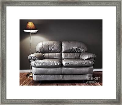Couch And Lamp Framed Print by Elena Elisseeva