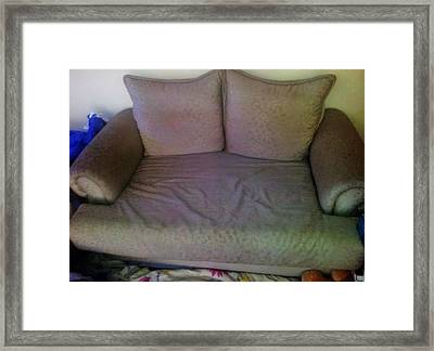 Couch Framed Print by Unique Consignment