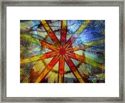 Coucher De Soleil Framed Print by Fania Simon
