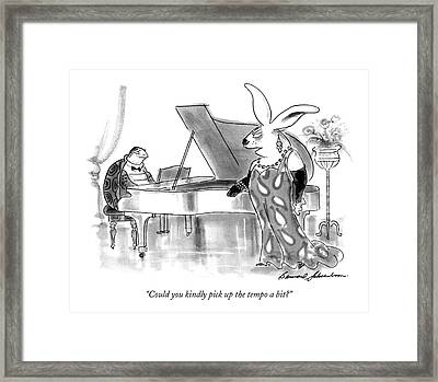 Could You Kindly Pick Up The Tempo A Bit? Framed Print by Bernard Schoenbaum